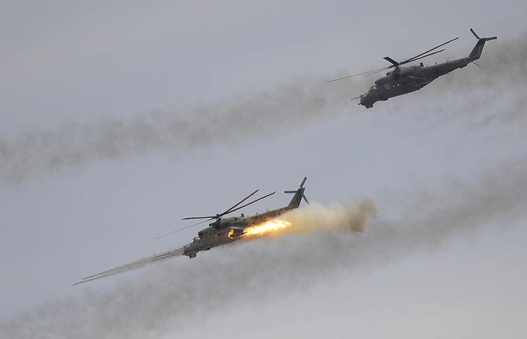 Mi-24 attack helicopters