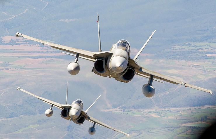 F-18 fighter jet