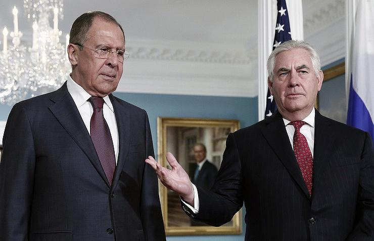 Sergey Lavrov and Rex Tillerson