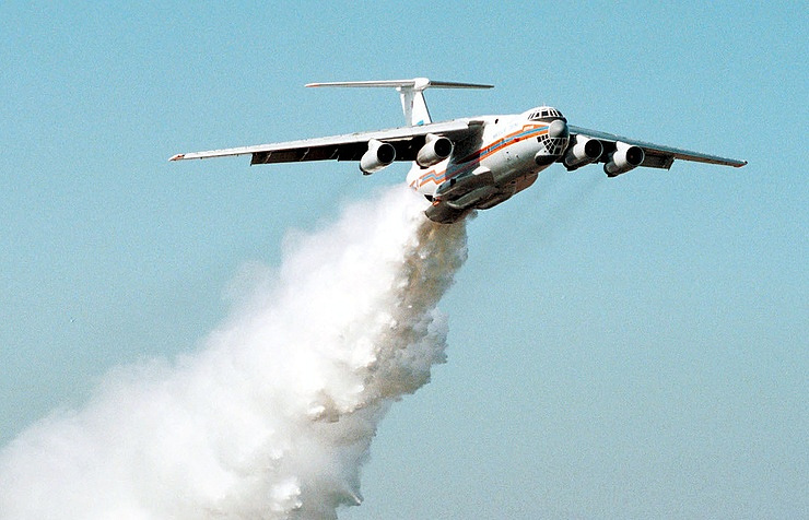 Il-76 firefighting aircraft
