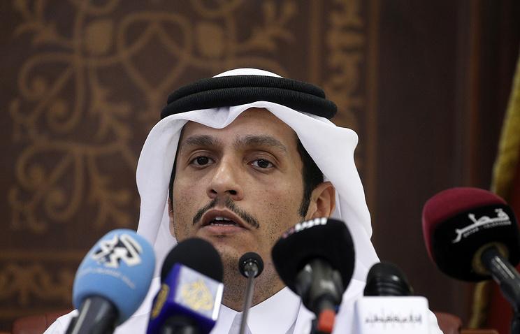 Qatar's Foreign Minister Mohammed bin Abdulrahman Al Thani
