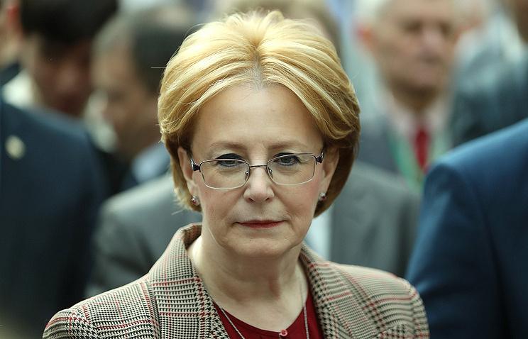 Russia's health minister, Veronika Skvortsova