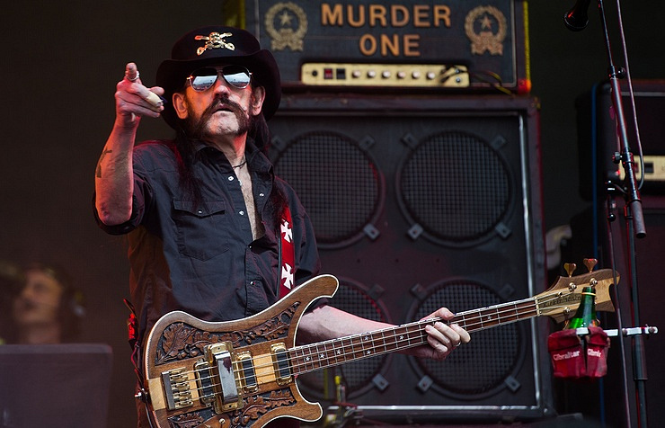 Lemmy Kilmister of Motorhead performs at the Glastonbury Festival, 2015