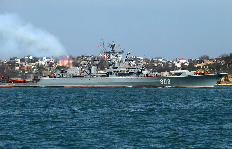 Black Sea Fleet's escort ship The Pytlivy