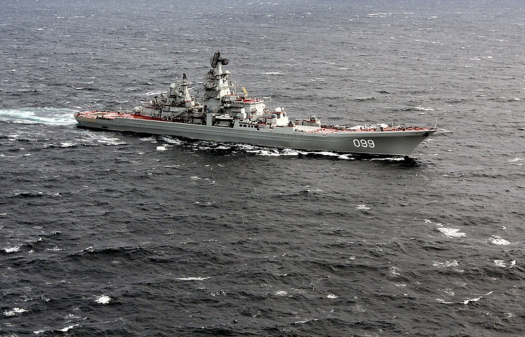 The Pyotr Veliky nuclear-powered guided-missile cruiser