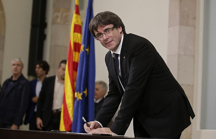 Catalonia's leader Carles Puigdemont