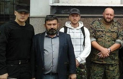 Roman Ternovsky (second left)