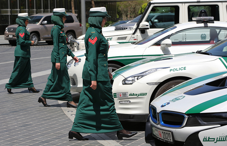 Police women in Dubai, United Arab Emirates