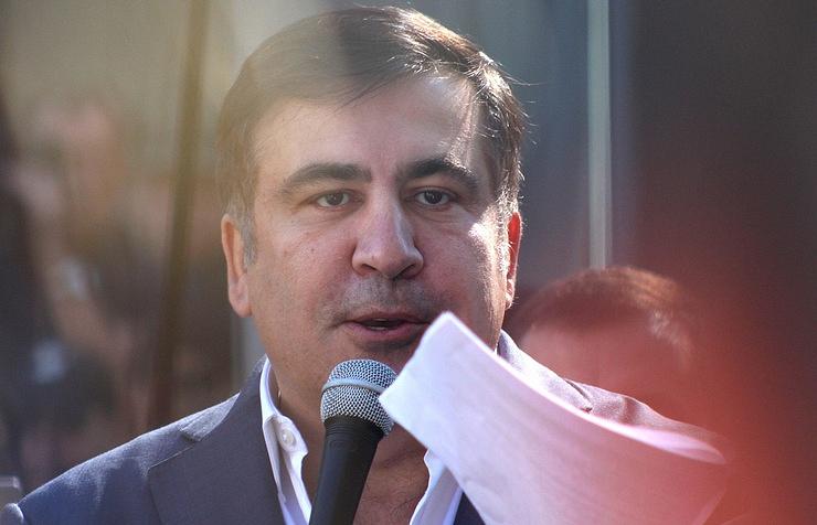 Ukrainian opposition leader Mikheil Saakashvili