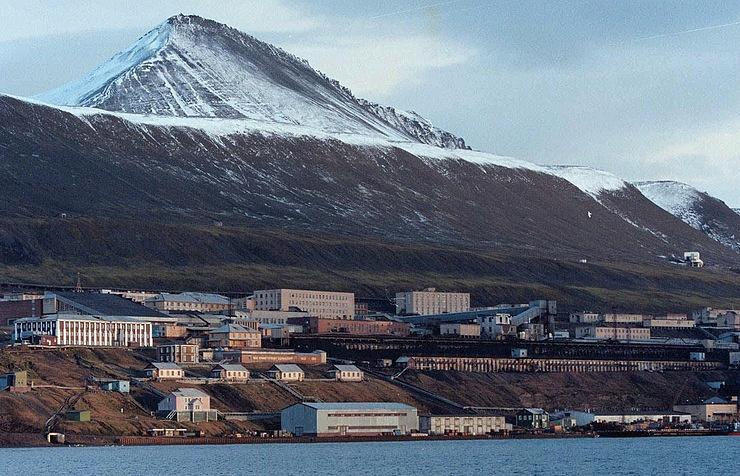 Barentsburg, a town on Spitsbergen