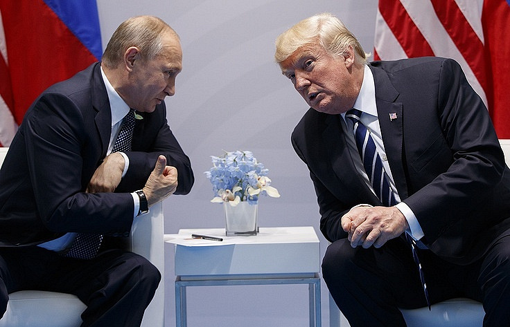 Russian President Vladimir Putin and US President Donald Trump