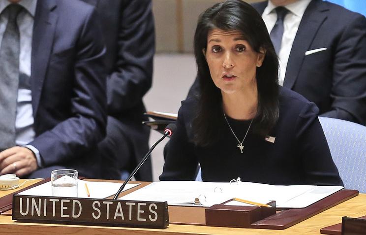 United Nations US Ambassador Nikki Haley