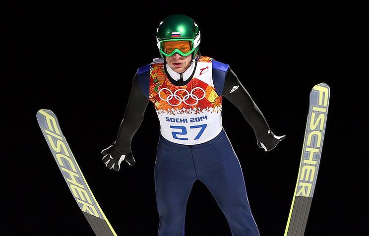Russian ski jumper Denis Kornilov
