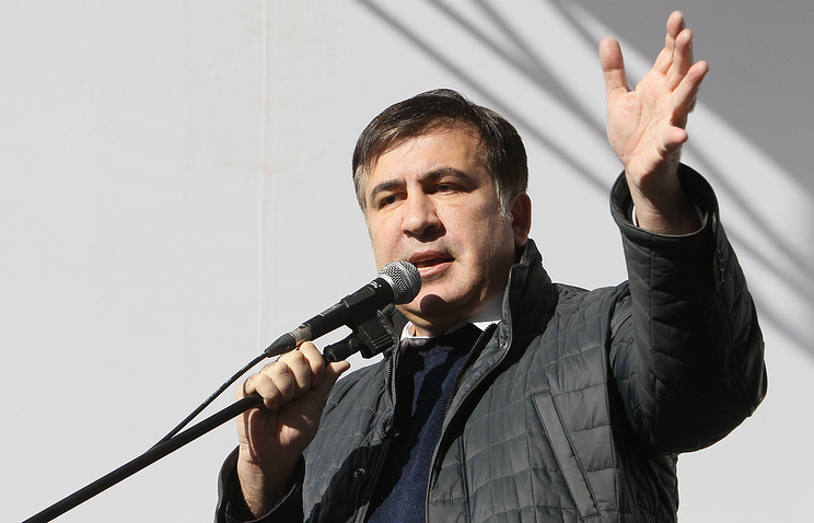 Ukrainian Police Clash With Saakashvili Supporters in Kyiv