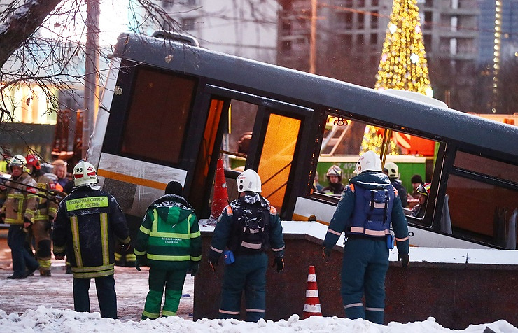 Bus kills at least 4 people in Moscow, driver detained