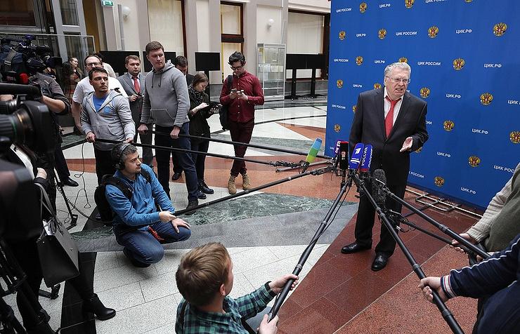 Liberal Democratic Party (LDPR) leader Vladimir Zhirinovsky
