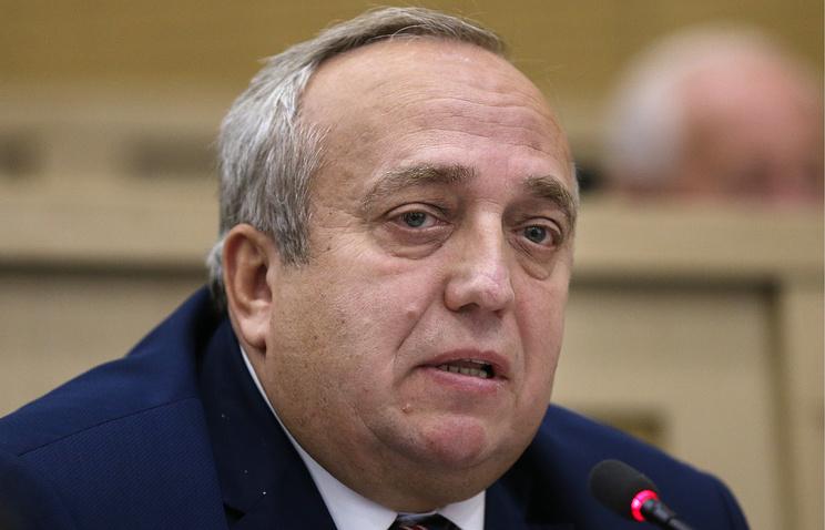 Russia's senator Frants Klintsevich