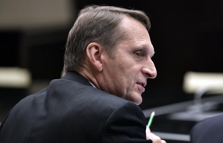 Russian Foreign Intelligence Service chief Sergei Naryshkin