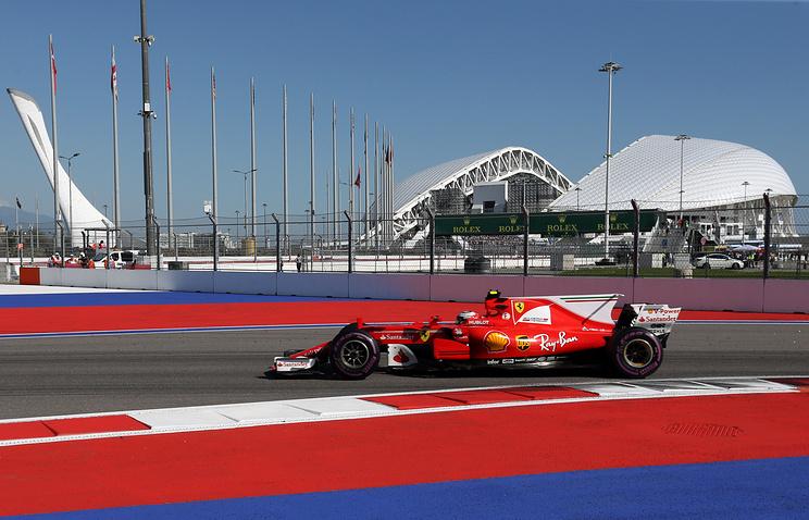 Formula 1 racetrack in Sochi