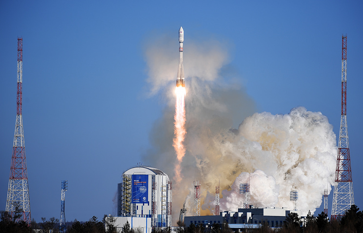 Soyuz-2.1a carrier rocket with satellites Kanopus-V No. 3 and No. 4 launched from Vostochny spaceport