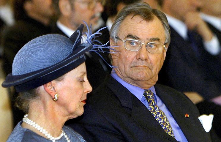 Danish Queen Margrethe II and her husband, Prince Henrik