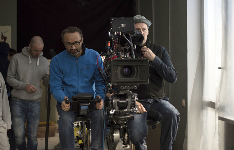 """Andrei Zvyagintsev seen during the filming of """"Loveless"""""""