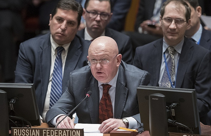 Russia's Permanent Representative to the UN Vasily Nebenzia