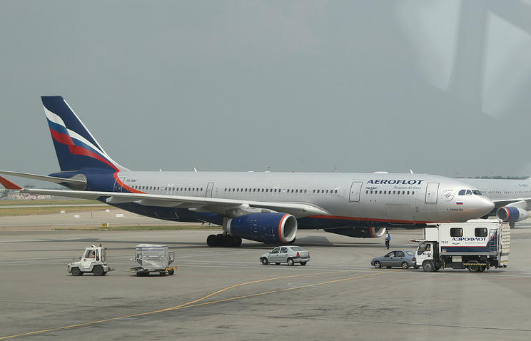 Russia says police search Aeroflot jet in Heathrow