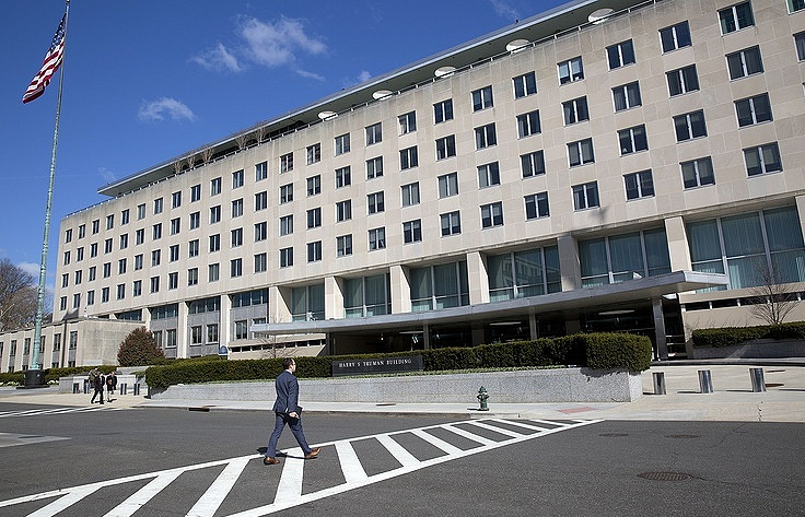 The US Department of State building in Washington