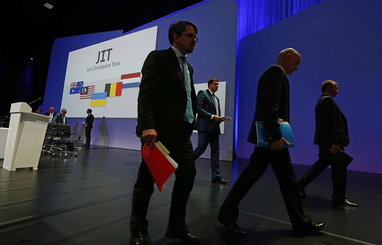Members of the Joint Investigation Team seen after a press conference on the investigation into the MH17 crash case