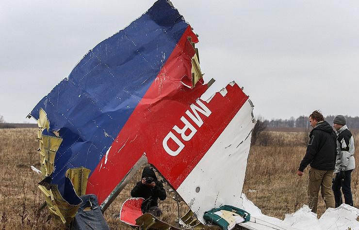 MH17 wreckage in Ukraine
