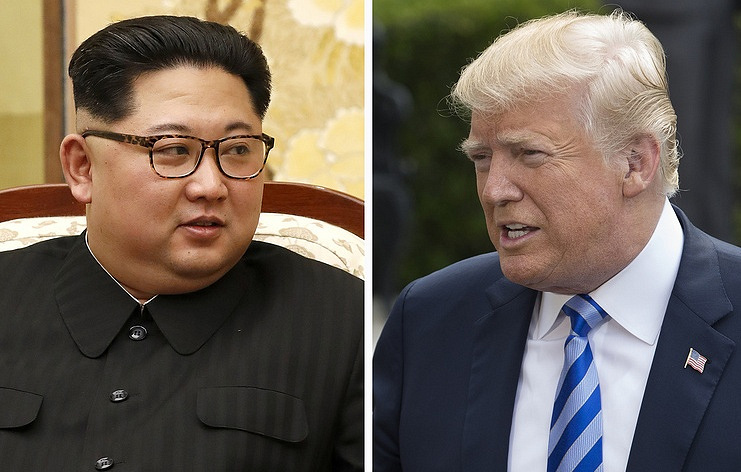 North Korean leader Kim Jong-un and US President Donald Trump