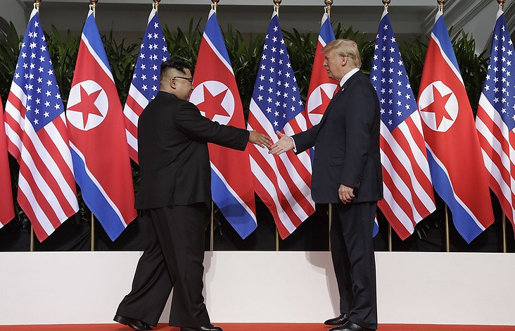 Leader of North Korea Kim Jong-un and US President Donald Trump