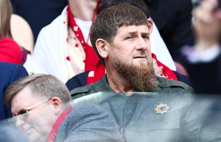 Chechen leader Ramzan Kadyrov attends the opening ceremony of the 2018 FIFA World Cup at Luzhniki Stadium
