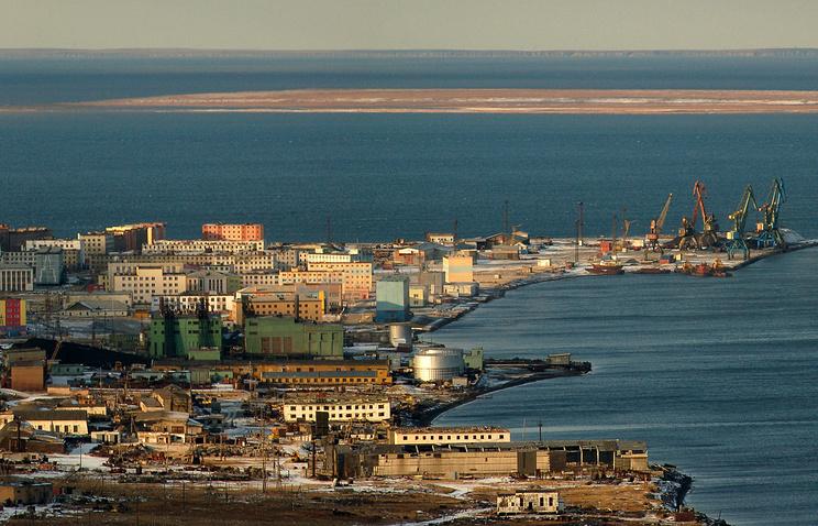 Pevek sea port