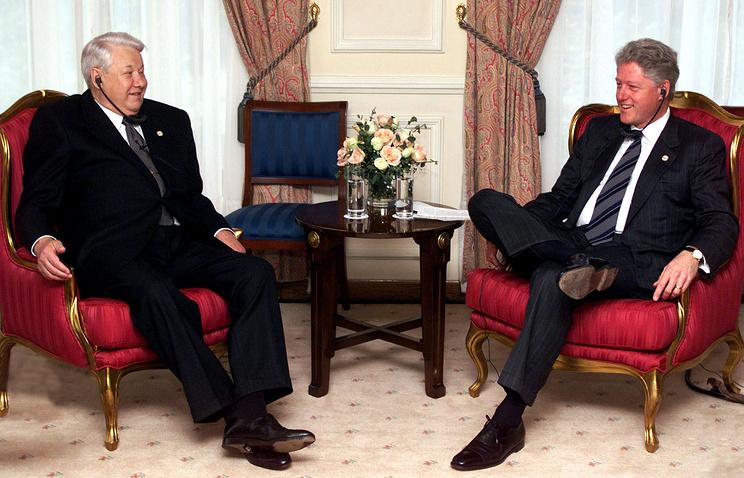Boris Yeltsin and Bill Clinton, 1999