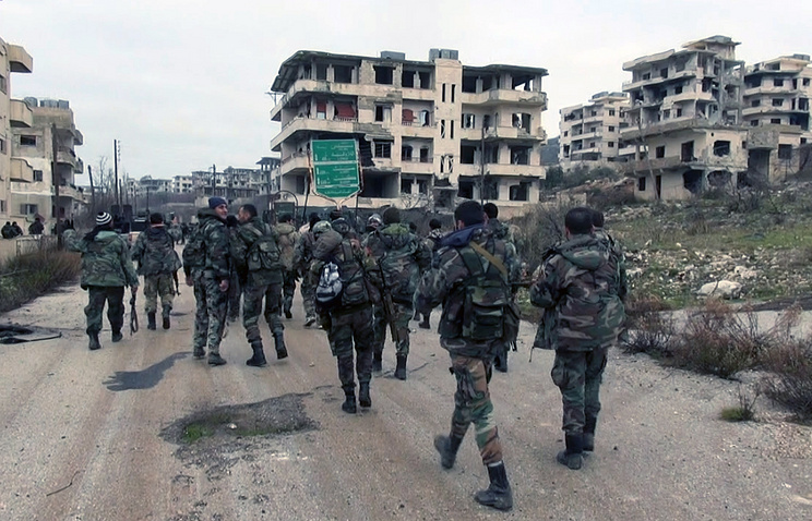 Syrian government troops in Latakia