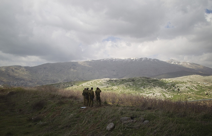 Israeli servicemen in the Golan Heights area