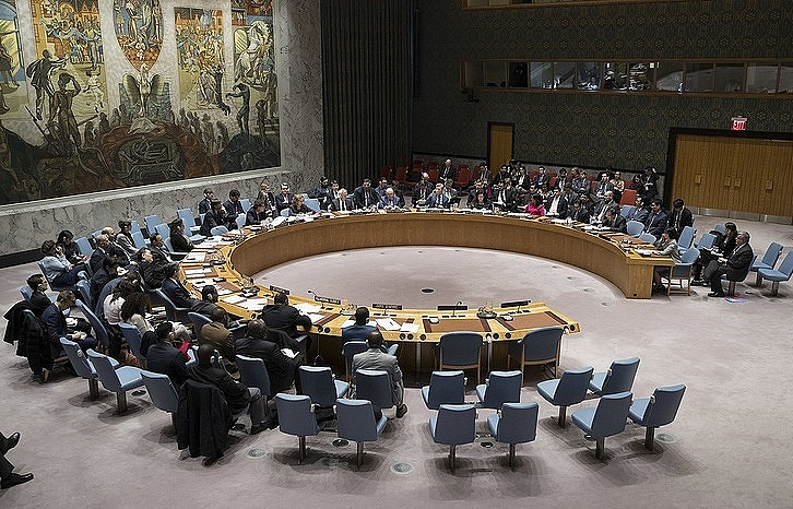 A session of the UN Security Council