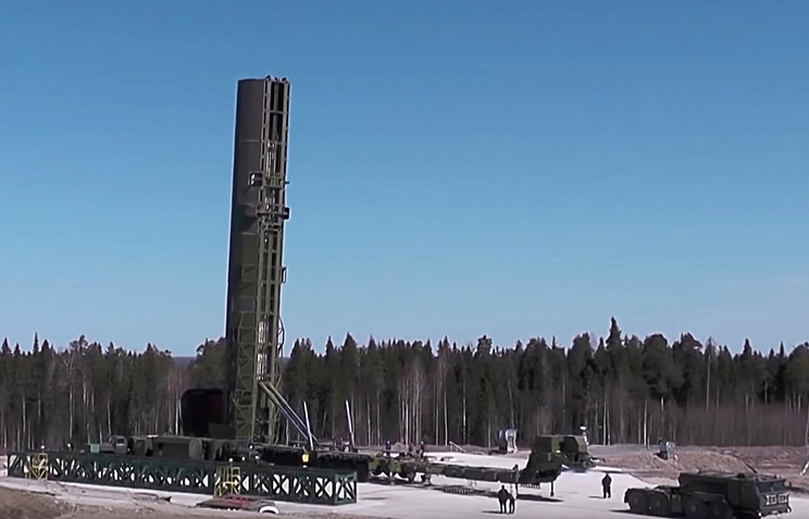 RS-28 Sarmat intercontinental ballistic missile