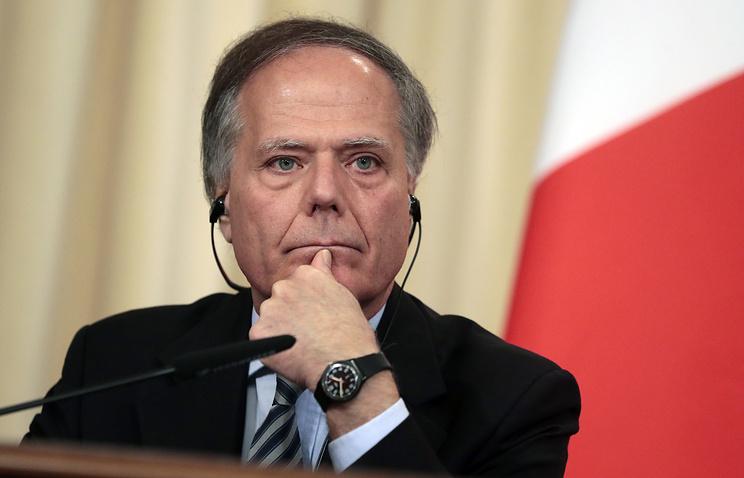 Italian Foreign Minister Enzo Moavero Milanesi
