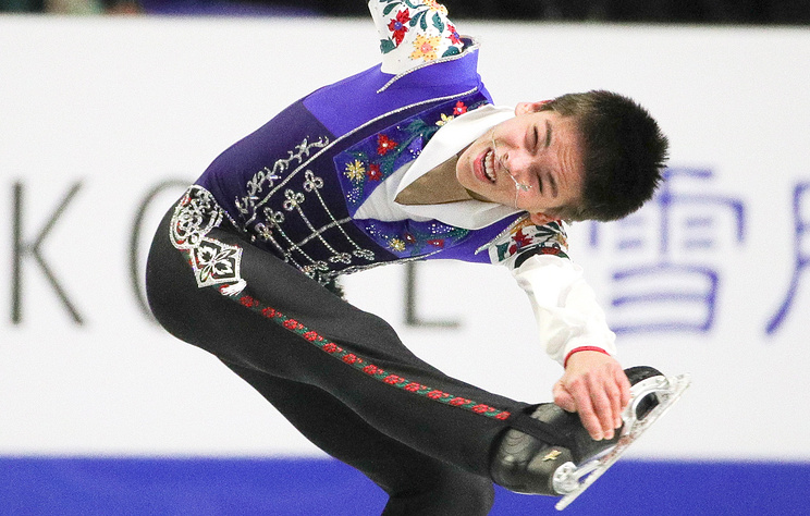 Russia's figure skater Petr Gumennik