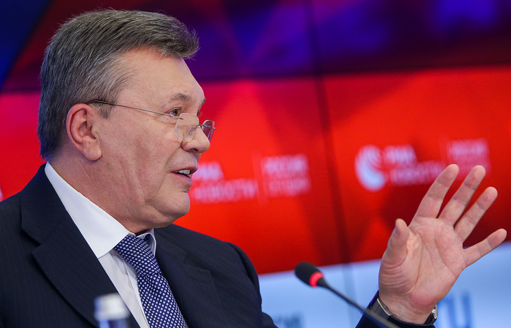Ukraine's former president Viktor Yanukovich