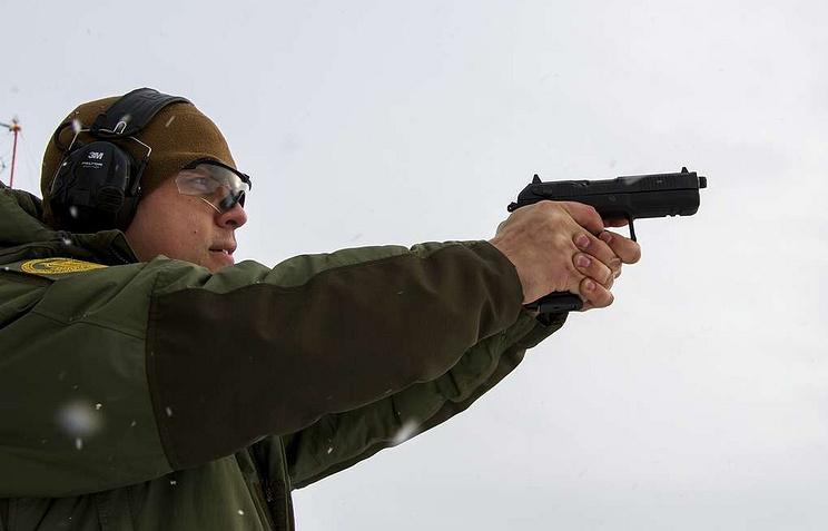 Udav handgun chief designer, Ivan Kozlov
