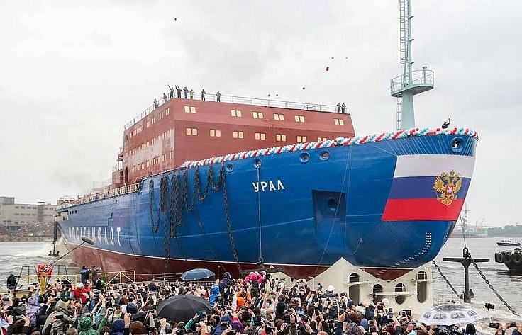 The Ural nuclear-powered icebreaker