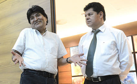 Evo Morales and Ruben Saavedra, Photo ITAR-TASS