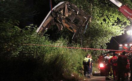 At the accident scene, Photo EPA/ITAR-TASS