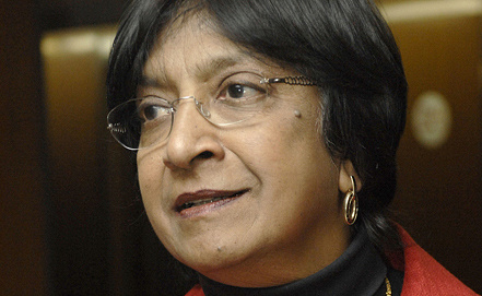 UN High Commissioner for Human Rights Navanethem Pillay, Photo ITAR-TASS/Yury Mashkov