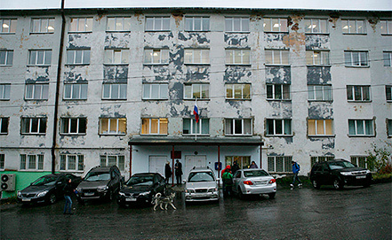 Murmansk city Leninskiy Court. Photo EPA/IGOR PODGORNY / GREENPEACE INTERNATIONAL