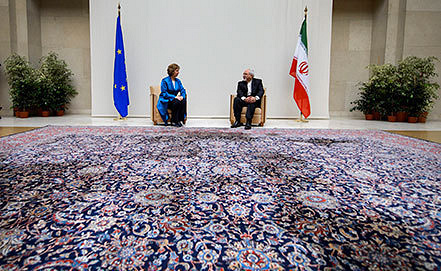 Iran nuclear program talks in Geneva. AP Photo/Fabrice Coffrini, pool